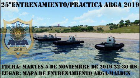 25º Entrenamiento/Práctica ArgA 2019