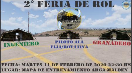 2º Feria de rol Arga 2020
