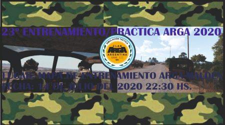 23° Practica/Entrenamiento ArgA 2020