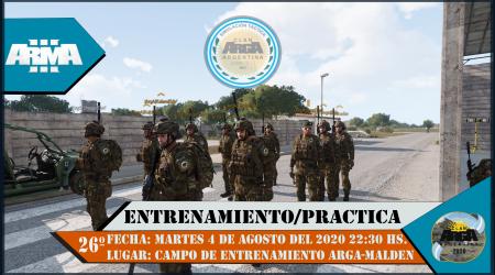 26° ENTRENAMIENTO/PRACTICA ARGA 2020