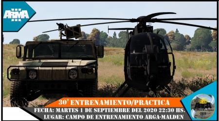 30° ENTRENAMIENTO/PRACTICA ARGA 2020