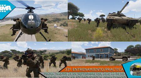 33° ENTRENAMIENTO/PRACTICA ARGA 2020