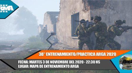 38° ENTRENAMIENTO/PRACTICA ARGA 2020