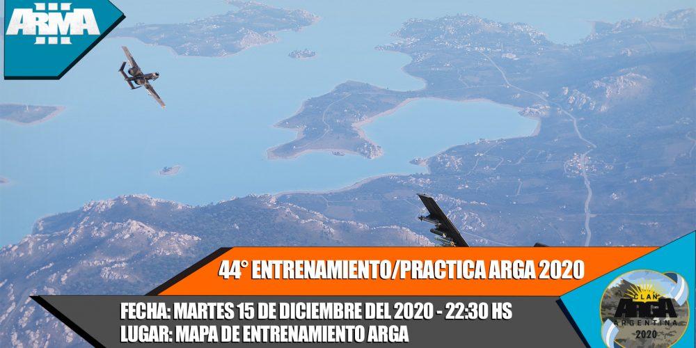 44° ENTRENAMIENTO/PRACTICA ARGA 2020